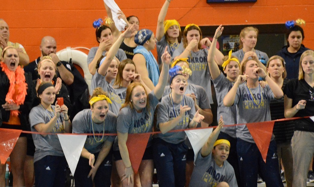 Akron Wins Third Straight MAC Swimming & Diving Title